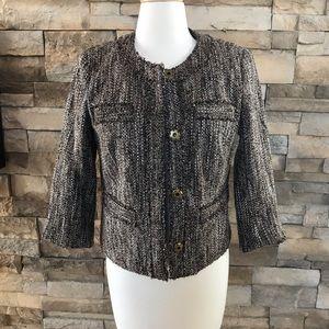 Michael Kors brown tweed jacket
